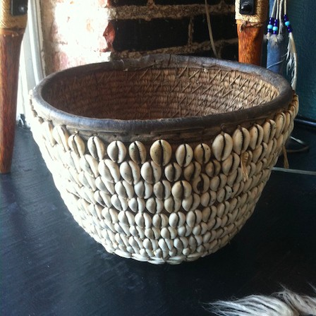 conch shell basket