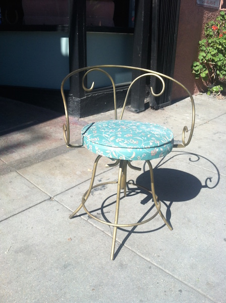 1960s Swivel Iron Vanity Stool