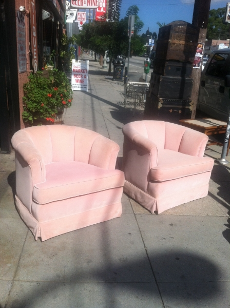 Pair of 1960s Swivel Club Chairs