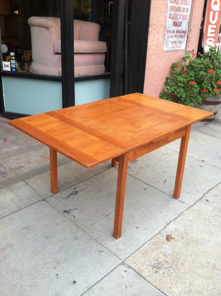 1970s Danish Dining Table with Extension and Teak Finish