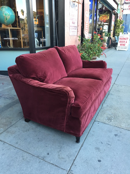 Burgandy Love Seat Hand Crafted by Richter Furniture