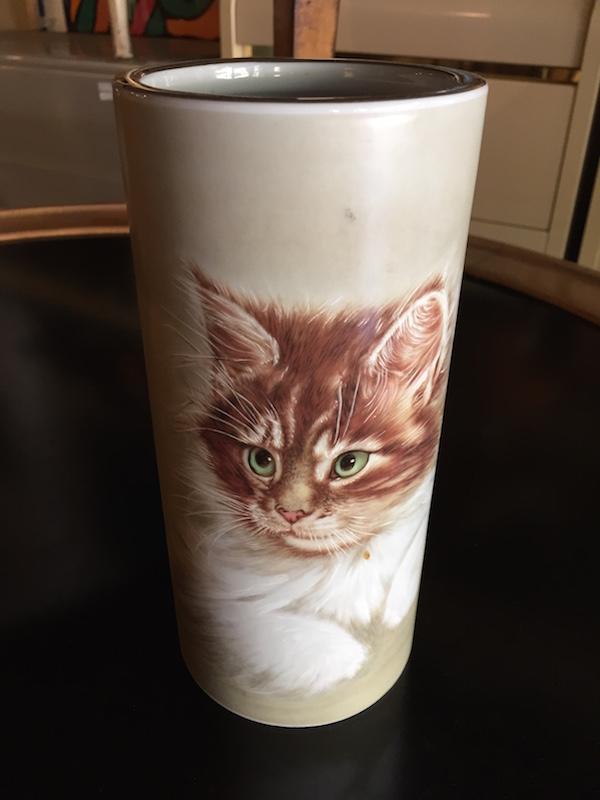 Mid-century Cat Vase