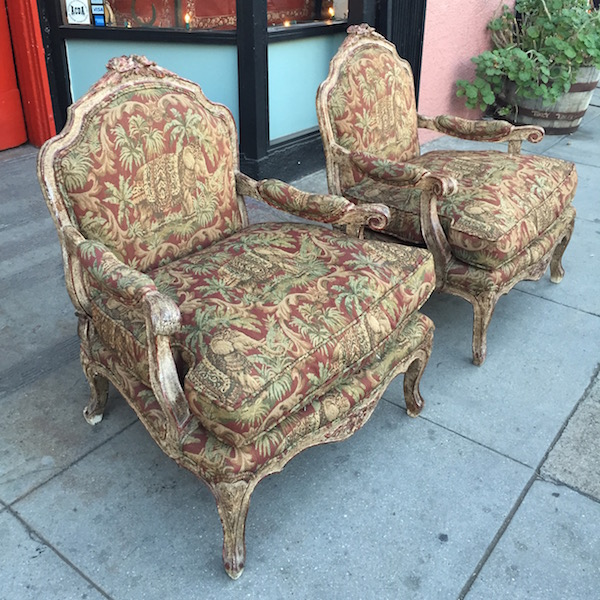 Pair of Custom Made French Style Club Chairs