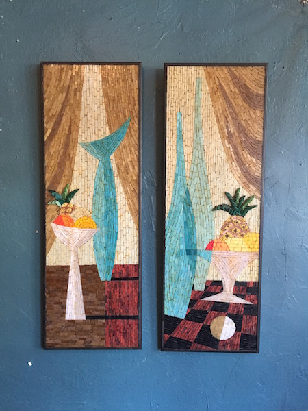 Pair of Mid-century Mosaic Wall Hangings