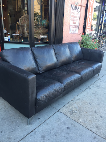 Leather Tuxedo Sofa by American Leather Co.