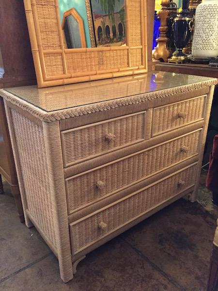 Three Drawer Wicker Dresser by Lexington Furniture