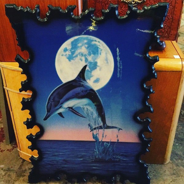 Vintage Dolphin Wood Art by Joe Eden