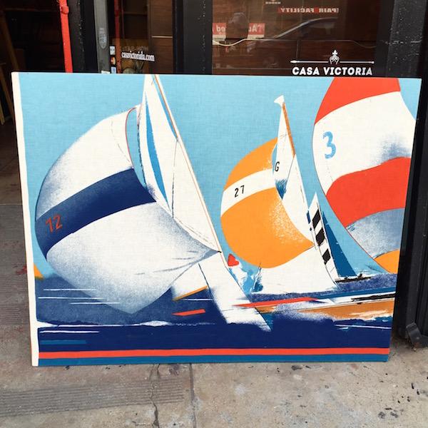 Vintage Boat Silkscreen