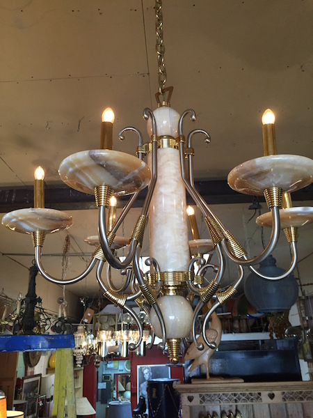 Alabaster Chandelier with 6 Lights
