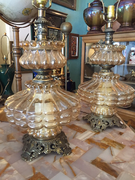 Pair of 1960s Glass Lamps