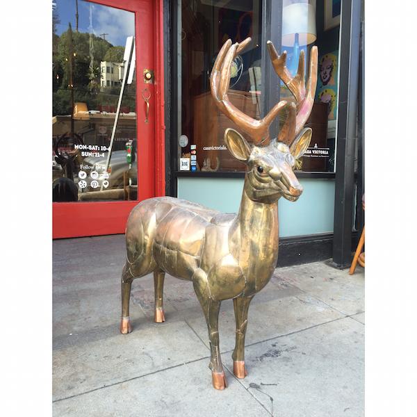 Large 1970s Deer Statue