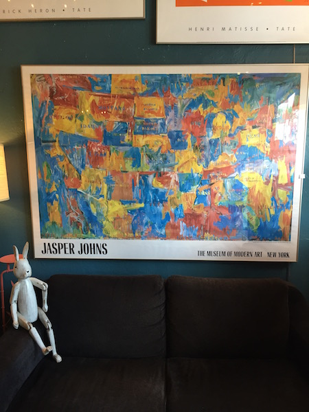 1989 Museum Print of Map by Jasper Johns