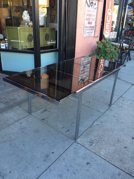 Milo Baughman-style Chrome Dining Table