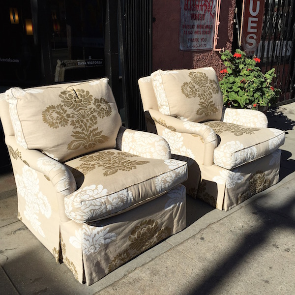 Beau SOLD | Just Right | Pair Of Custom Made Linen Club Chairs U2014 Casa Victoria  Vintage Furniture Los Angeles
