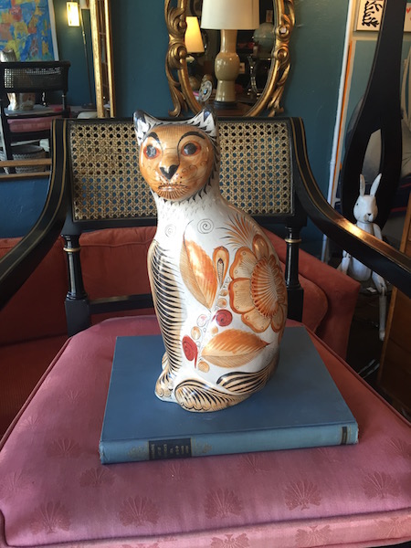 Vintage Mexican Cat Pottery