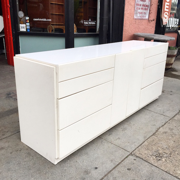 White Lacquered 1980s Dresser by LANE