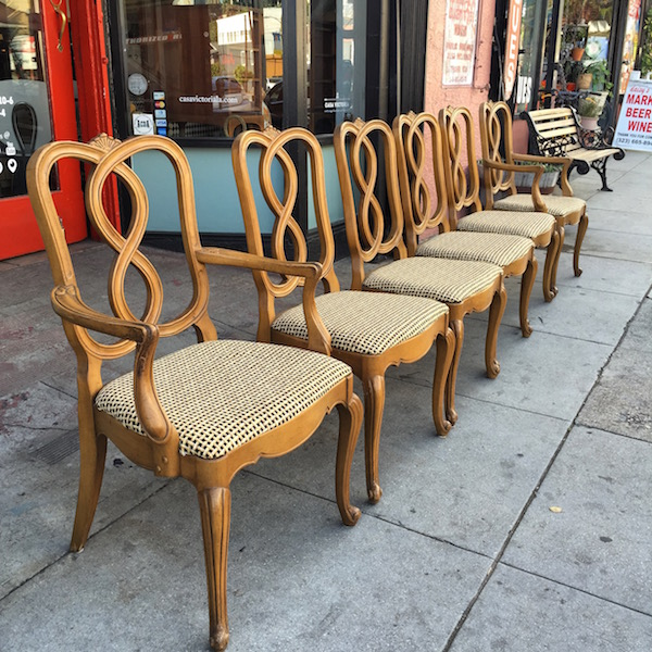 SOLD | Dinner Together | Set Of 6 Regency Style Dining Chairs C.1950 U2014 Casa  Victoria Vintage Furniture Los Angeles