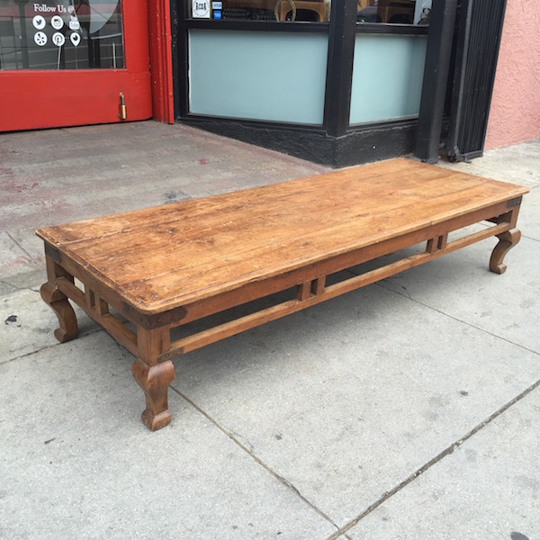 Long Coffee Table Made of Reclaimed Wood