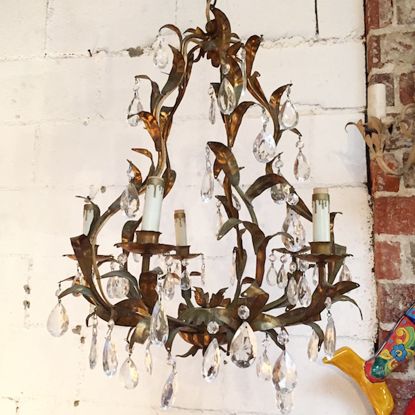 1960s Italian Chandelier with Five Lights