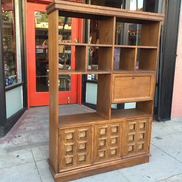 1970s Wall Unit With Cork Inlays