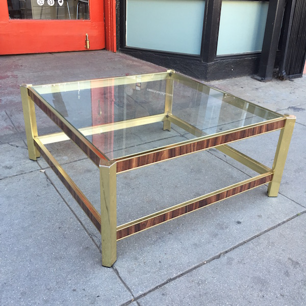 1970s Gold Coffee Table