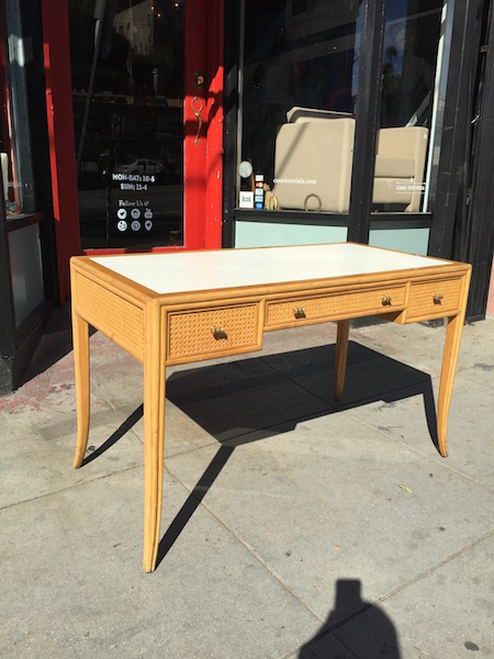 Inner Keats | Rattan Desk By McGuire Of San Francisco U2014 Casa Victoria  Vintage Furniture Los Angeles