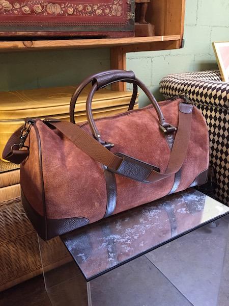 Vintage Suede Duffle Bag