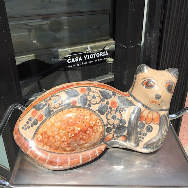 Large Pottery Cat from Mexico
