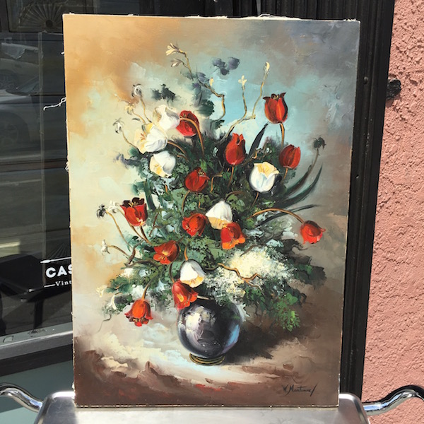 Mid-century Painting of Flowers