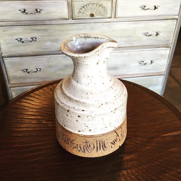 vintage stoneware carafe