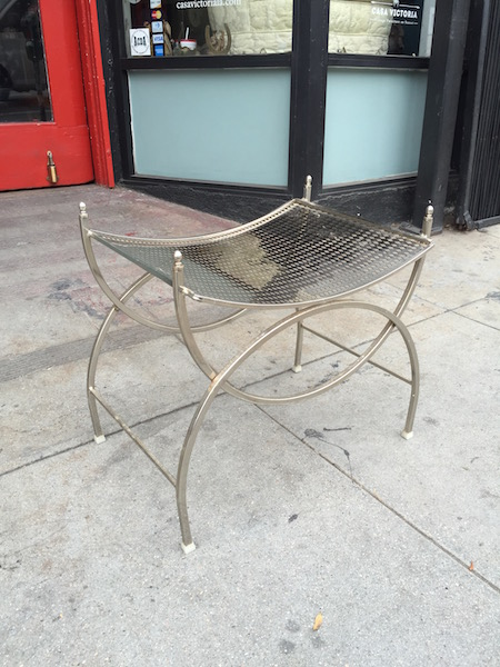 Perforated Metal Vanity Stool