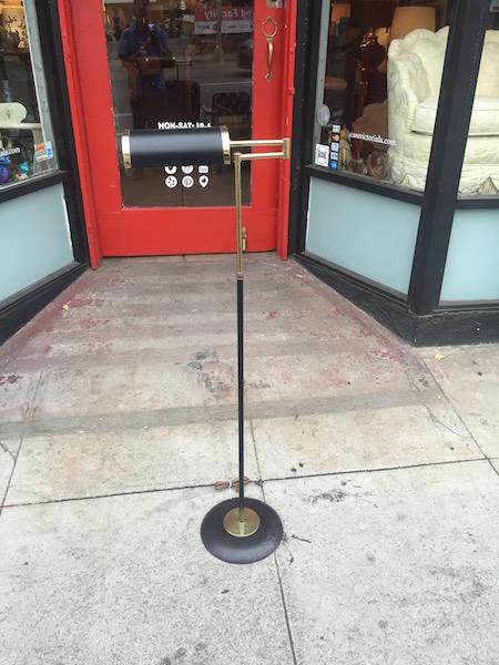 Brass Mid-century Floor Lamp