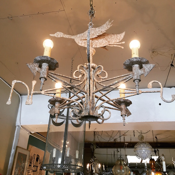 Rain boots or sandals custom made weather vane iron chandelier custom made weather vane chandelier aloadofball Choice Image