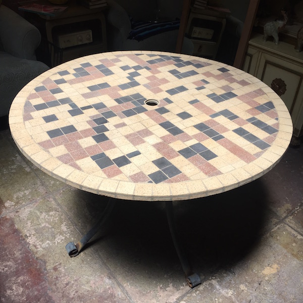 Hand Crafted Mosaic Patio Table