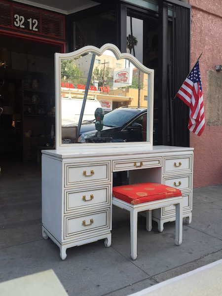 Hollywood Regency Style Vanity with Stool