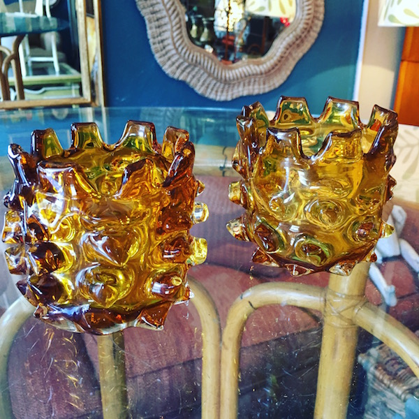 Thorn Glass Hurricane Vases by Lazy Susan