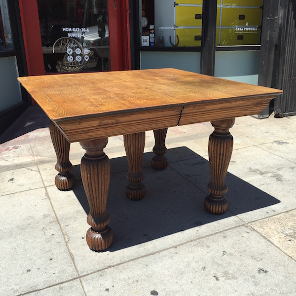 Lets Eat S Oak Dining Table Casa Victoria Vintage Furniture - Kitchen table los angeles