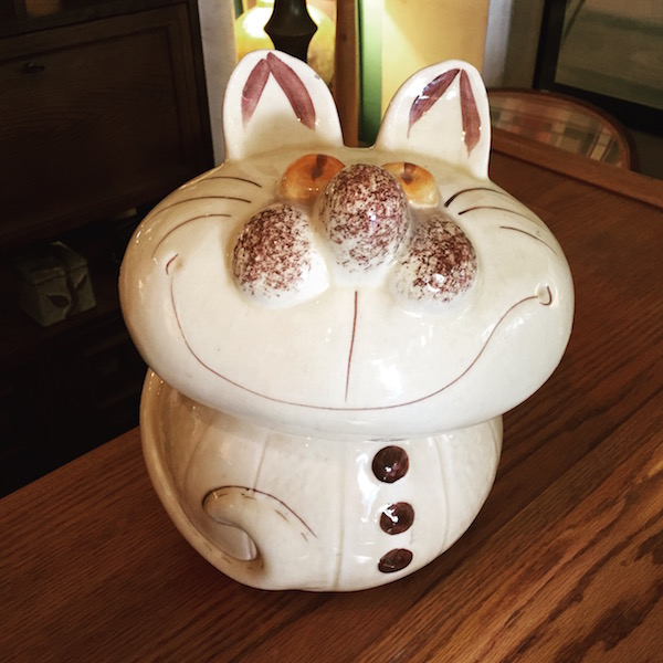 Vintage Cheshire Cat Cookie Jar