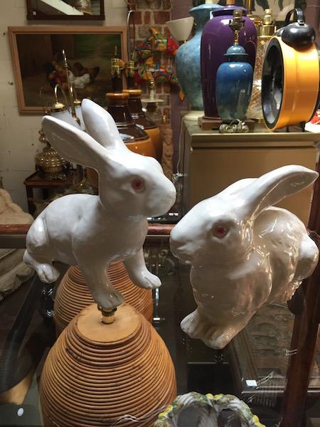 Vintage Terra Cotta Rabbits