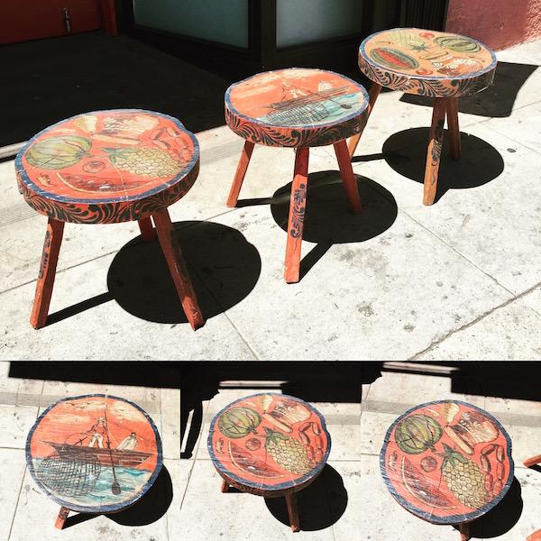 Three Vintage Hacienda Tables