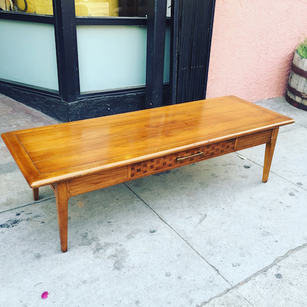 Long and Narrow Mid-century Coffee Table