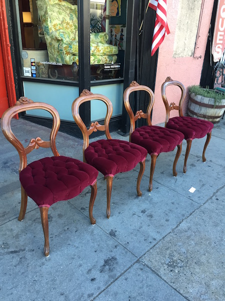 Four French style Mahogany Chairs