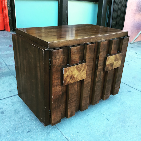 Brutal Mid-century Night Stand by LANE