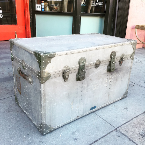 Mid-century Metal Aviator Trunk
