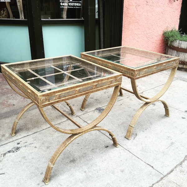 Pair of Metal End Tables