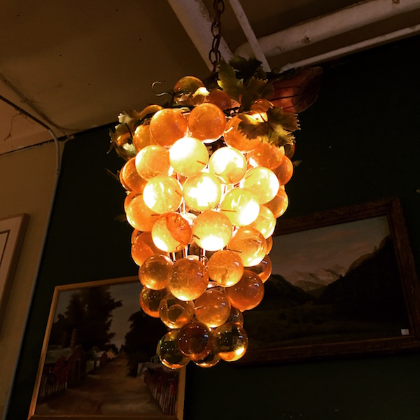 Mid-century Grape Chandelier