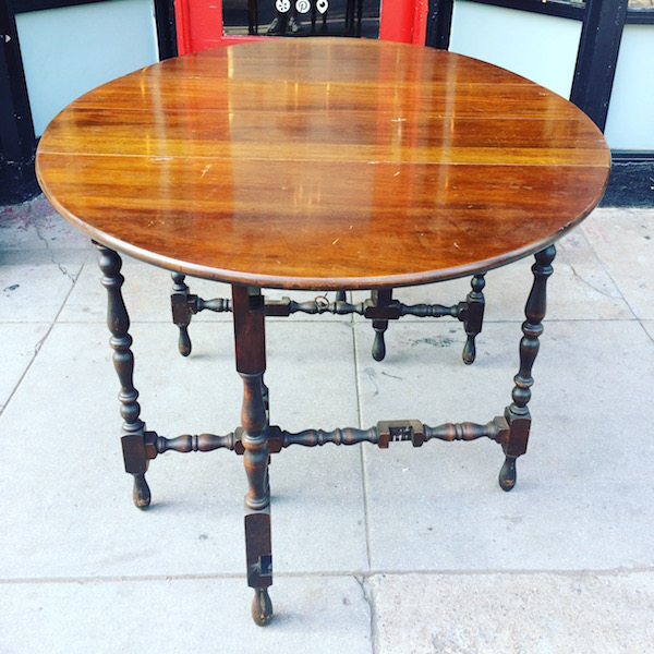 1920s Drop Leaf Dining Table