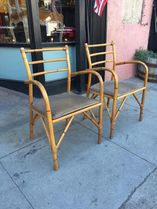 Choose Wisely | Pair Of Vintage Bamboo Arm Chairs U2014 Casa Victoria Vintage  Furniture Los Angeles