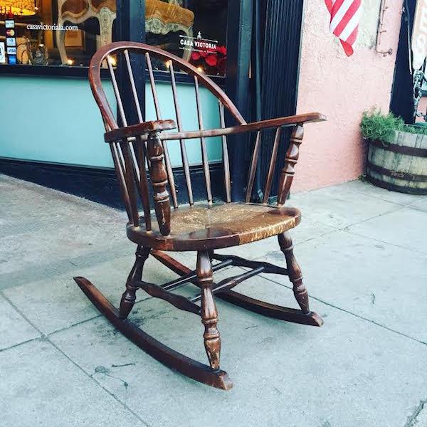 Rock Out   Vintage Windsor Rocking Chair — Casa Victoria Vintage Furniture  Los Angeles - Rock Out Vintage Windsor Rocking Chair — Casa Victoria Vintage