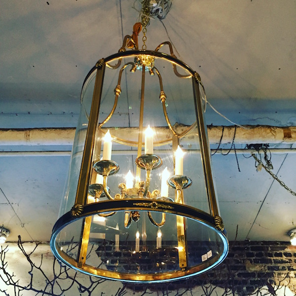 Large Brass 'Savannah' Chandelier